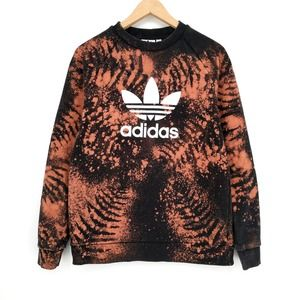 Adidas Custom Bleached Tie Dye Trefoil Sweatshirt